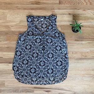 Old Navy Semi-sheer Floral Sleeveless Blouse